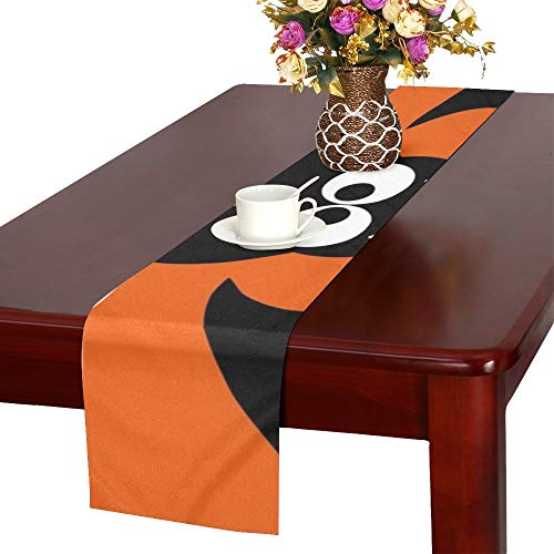 (Halloween Party Idea Festive Printed Products Table Runner, Kitchen Dining Table Runner 16 X 72 Inch for Dinner Parties, Events,)