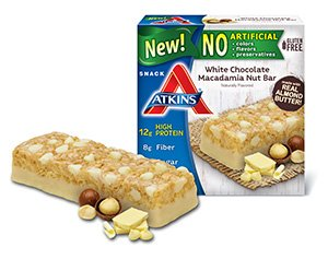 Atkins Snack White Chocolate Macadamia Nut Bar, 8 Ounce
