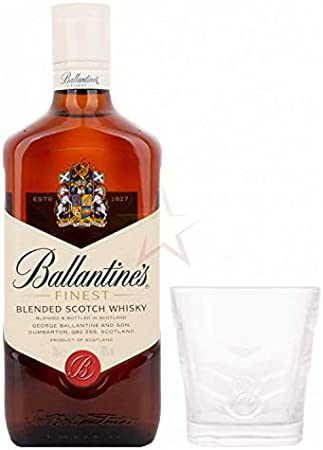 Ballantine`s Finest Blended Scotch Whisky 40% - 700 ml with glass