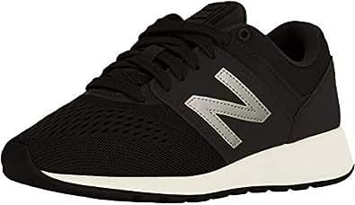 New Balance Women's 24v1 Lifestyle Shoe Sneaker, Black/Artic fire, 5 W US