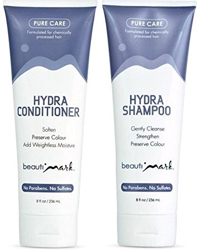 Daily Duo - Pure Care Shampoo & Conditioner for Human Hair By BeautiMark - Formulated for Processed Human Hair Wigs Extensions (Pure Care Shampoo)