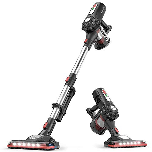RoomieTEC Cordless Stick Vacuum Cleaner, 2 in 1 Handheld Vacuum with 120W Suction Power, Stainless Steel Filter, HEPA Filter, Designed for Floor, Carpet, and Pet Hair - RMDY595
