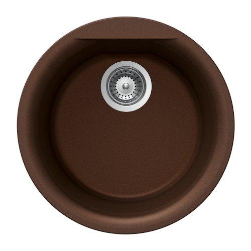 Houzer EURO R-100 COPPER Schock-Houzer Euro Series R-100 Dual Mount Round Bar/Prep Sink, (Round Copper Prep Sink)