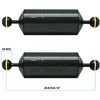 KitDive 2 x 8 / 20.5 cm D60mm Carbon Fiber Underwater Float Arm for Video Light/Strobe mounting (2 PCS)
