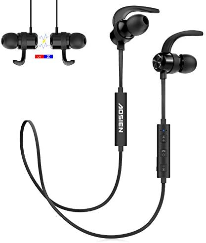 Wireless Bluetooth Headphones Aoslen Bluetooth 5.0 Magnetic Smart Switch in-Ear Sports Earbuds with Microphone Hi-Fi Stereo Bass Sound Headphones for iPhone, Samsung,Huawei Xiaomi