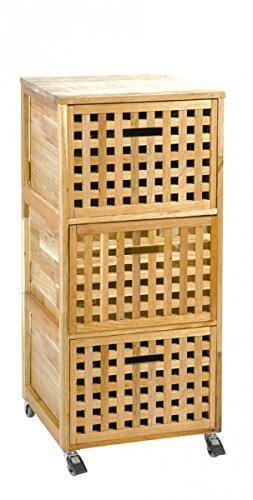 Rollcontainer Aus Walnuss 41x41x93 Cm Rollen Container Badezimmer