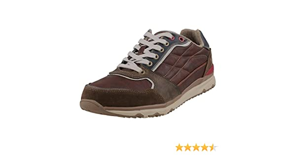 Mustang Zapatos de Cordones de Material Sintético Para Hombre Marrón Braun (Dunkelbraun 32), Color Marrón, Talla 41 EU