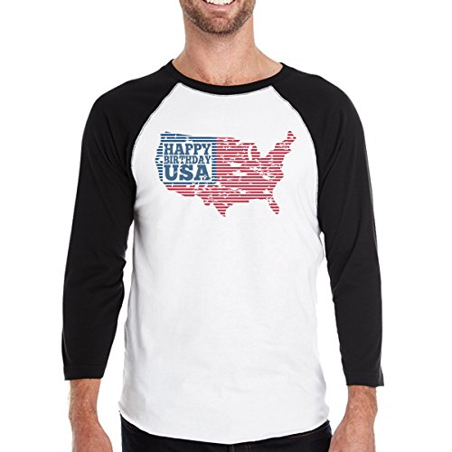 Taille T Unique Happy 365 Printing Courtes Usa Homme shirt Manches Birthday nTY5q5wP