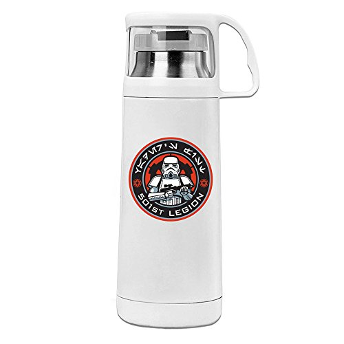 Stormtrooper Costumes Blaster (Stormtrooper Logo 304 Stainless Steel ABS Thermos Vacuum Insulated Travel Mug Cup With Handle)