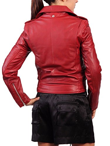 Rosso Chaqueta Mujer Junction Leather Para wRqan6zf