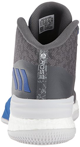 Adidas Prestanda Mens D Ökade 8 Grå Tre / Blå / Grå Fem