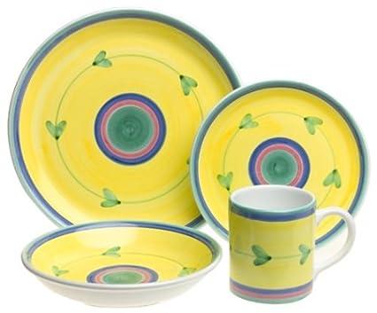Caleca Carousel 16-Piece Dinnerware Set Service for 4  sc 1 st  Amazon.com & Amazon.com | Caleca Carousel 16-Piece Dinnerware Set Service for 4 ...