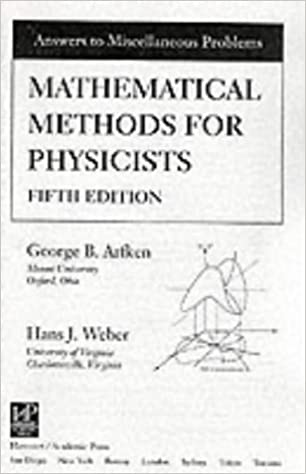 Mathematical Methods For Physicists Solutions Manual 5th