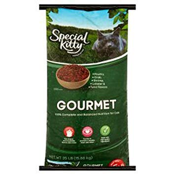 Special Kitty gourmet formula dry cat food 35lb