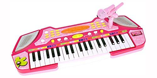 Bontempi - 123771 - Instrument De Musique - Clavier Électronique Rose 37 Touches Avec Micro