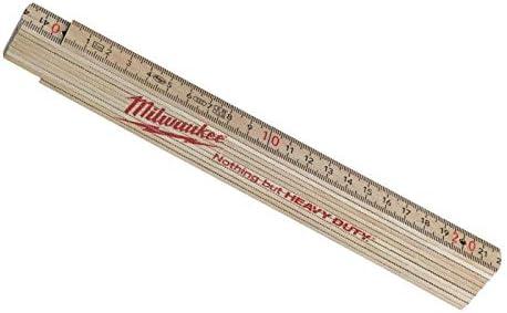 Milwaukee 0 Holz Slim Gliederma/ßstab 2 m Zollstock
