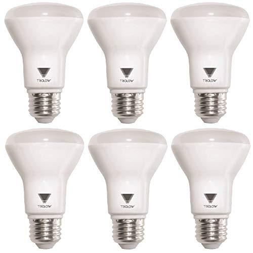 (TriGlow T99025-6 (6-Pack) LED 7-Watt (50W Equivalent) BR20 Light Bulb, 525 Lumen, CRI 90, DIMMABLE 4100K (Cool White) UL Listed LED Light Bulb)