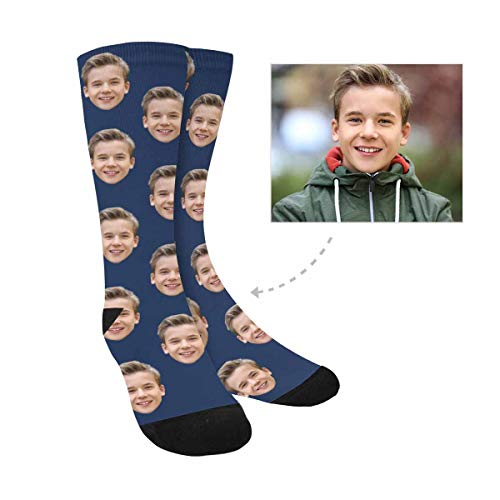 Custom Photo Pet Face Socks, Personalized Colorful Crew Socks for Men Women - http://coolthings.us