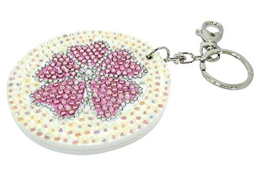 Pink Sakura Flower Sparkling Compact Mirror - Mirrors Omaha Bathroom