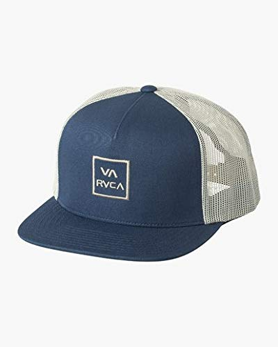 RVCA Men's VA All The Way MESH Back Trucker HAT, Navy Antique ONE Size
