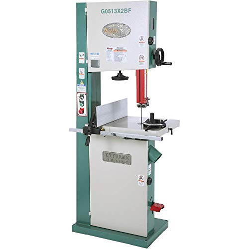 Grizzly G0513X2BF 2 HP Extreme-Series Bandsaw with Cast-Iron Trunnion and Foot Brake, 17-Inch