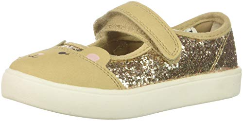 carters baby-girls Genna Mary Jane Flat, gold, 5 M US Toddler