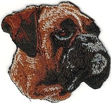 Boxer Dog Breed Portrait Looking Right Embroidery Patch ()