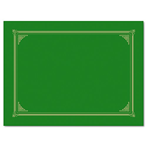 (Geographics Linen Stock Document Cover, 9.75 x 12.5 Inches, Green (47399))