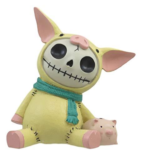 Ebros Furrybones Piggy Voodoo Skeleton Small Money Bank Statue 5.5