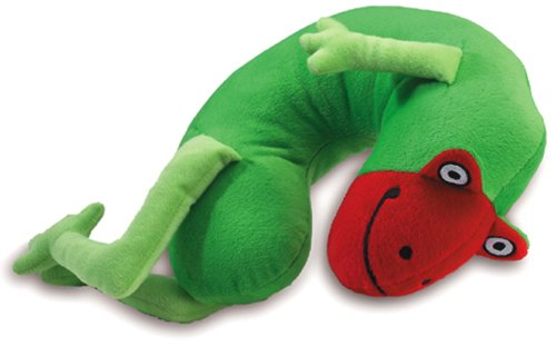 - Lil' Lewis Frog Travel Pillow, Green