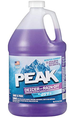 (Peak Original Deicer Rain Off Windshield Washer Fluid, Special Additive Helps Repel Rain, Sleet, Snow And Ice, Improves Driving Visibility - 25° F)