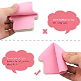 GTHER Arrow Shaped Sticky Notes, Self Stick Notes