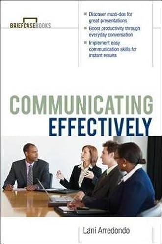 communicating effectively the briefcase books lani arredondo rh amazon com