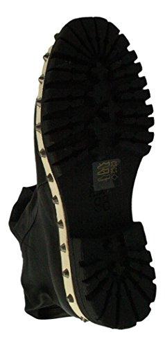 de negro para S 98 Lisa mujer A negro Botas negro Piel 4Upqw8t