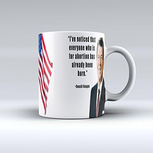 Ronald Reagan Quote Mug Abortion Quote Ceramic Coffee Mug 15OZ