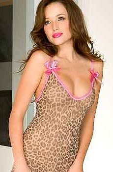 ef80c6c51a Music Legs Womens Leopard Print Crotchless Body Stocking! - Buy ...