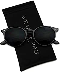 Throw on a unique retro style with these round plastic sunglasses. They come with UV 400 protected dark tinted lenses for a clear view and ultimate protection!
