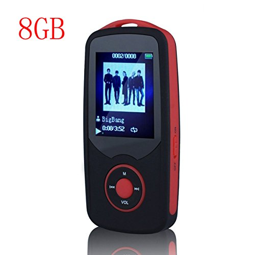 HONGYU R06 Portable Hi-Fi 8GB Bluetooth MP3 Music Player with FM Radio and Voice Recorder 50 Hours Lossless Playing &...