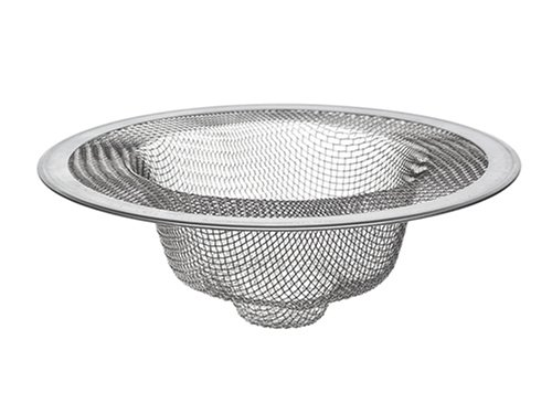 DANCO Universal Kitchen Sink Mesh Strainer, 4-1/2 Inch, Stainless Steel, 1-Pack (88822) ()
