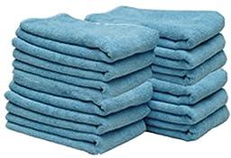 Blue All Purpose Microfiber Towels 12 Pack