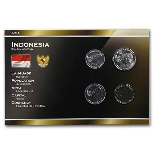 ID 1994-2010 Indonesia 25-1000 Rupiah Coin Set BU Uncirculated