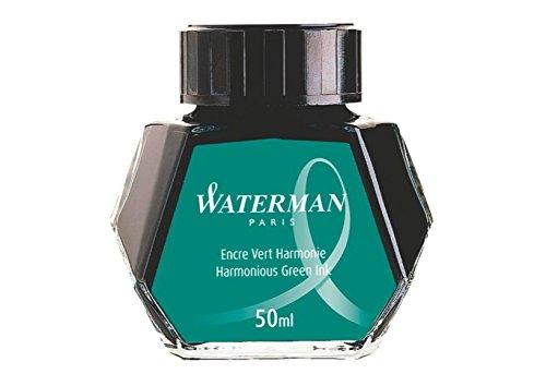 4 PACK Waterman 50 ml Bottled Liquid Fountain Pen Ink Harmonious Green S0110770