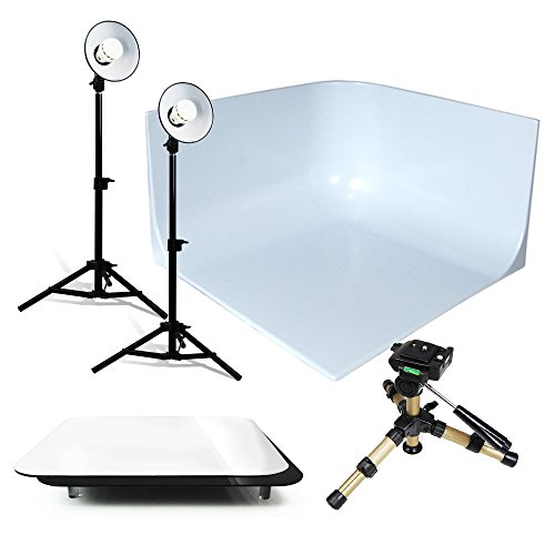 LoadStone Studio Photographic Continuous Output Lighting Kit, Black, White, Silver, Gold (V-PL1027) by LoadStone Studio