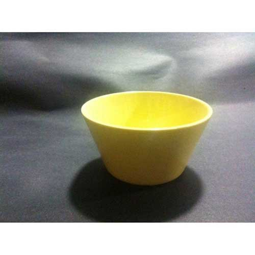 Yanco NS-302Y Nessico Bouillon Cup, 8 oz Capacity, 2'' Height, 3.75'' Diameter, Melamine, Yellow Color, Pack of 48