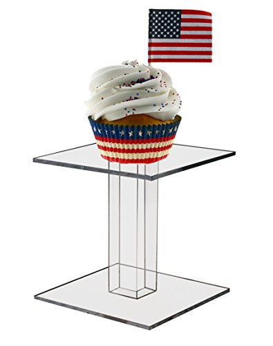 Marketing Holders 4'' Square Counter Top Pedestal Display Riser by Marketing Holders