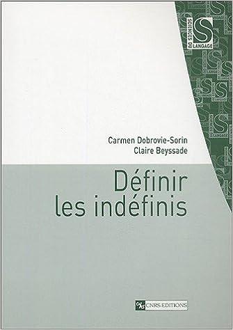 Definir les indefinis (CNRS langage): Amazon.es: Carmen Dobrovie-Sorin, Claire Beyssade: Libros en idiomas extranjeros