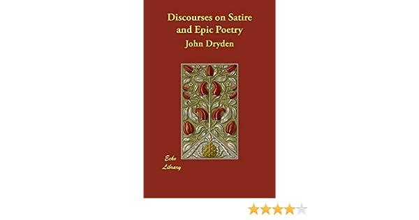 Amazon Com Discourses On Satire And Epic Poetry 9781406826166