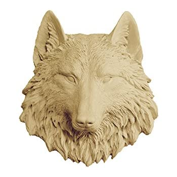 Amazon.com: Wall Charmers Wolf Mini in Khaki - Faux Taxidermy ...