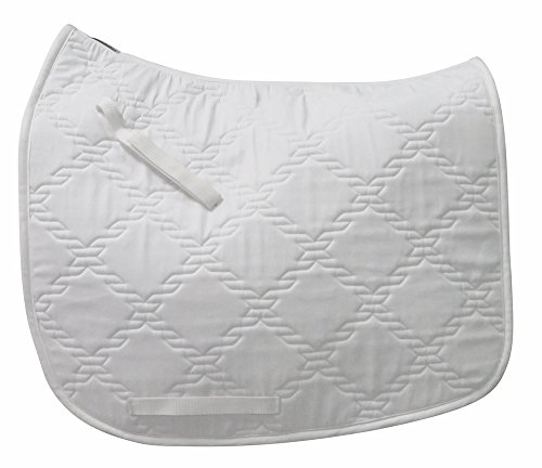 TuffRider Lanyard Dressage Saddle Pad White