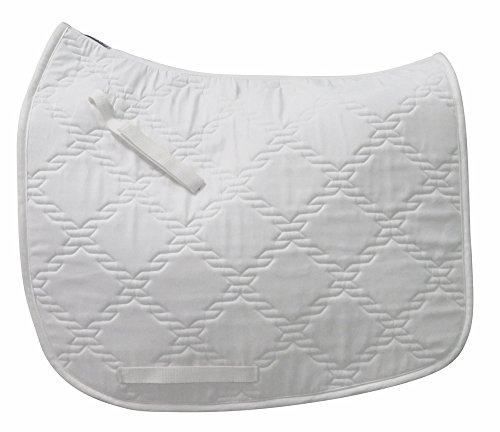 TuffRider Lanyard Dressage Saddle Pad White